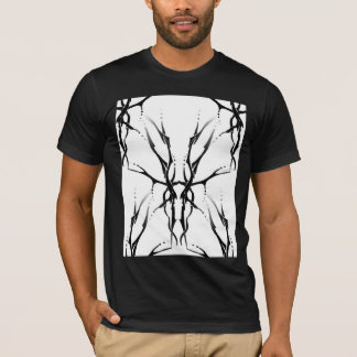 Tribal Deer Skull Tattoo Fantasy Digital Collage T-Shirt