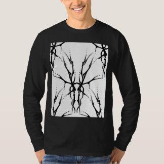 Tribal Deer Skull Tattoo Fantasy Digital Collage Tshirt