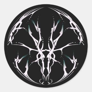 Tribal Deer Skull Tattoo Fantasy Digital stickers