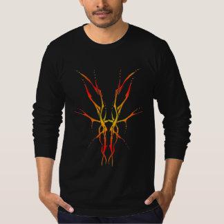 Tribal Deer Skull Tattoo - flame Tshirt