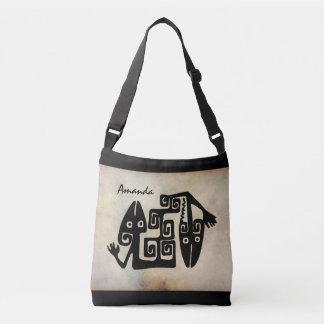 Tribal Design Fossil Cross Body Bag