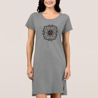 Tribal Design T-shirt Dress