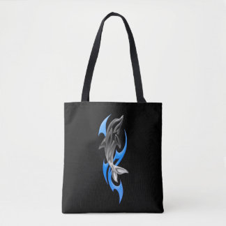 Tribal Dolphin All-Over-Print Tote Bag