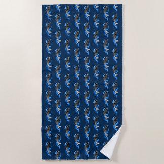 Tribal Dolphin Beach Towel