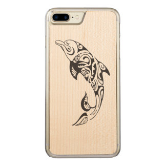 Tribal Dolphin Carved iPhone 8 Plus/7 Plus Case