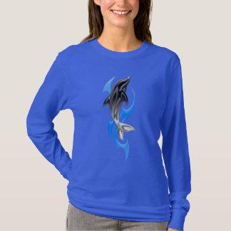 Tribal Dolphin Dark Long Sleeve T-Shirt