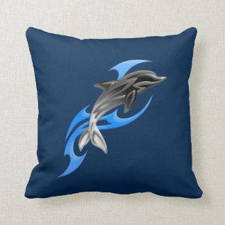 Tribal Dolphin Throw Pillow