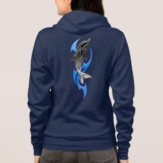 Tribal Dolphin Zip Hoodie