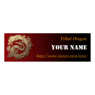 Tribal dragon business cards