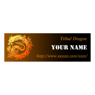 Tribal dragon business card template