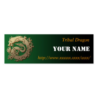 Tribal dragon pack of skinny business cards