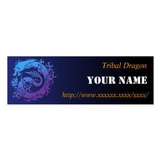 Tribal dragon business card template