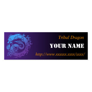 Tribal dragon business card templates