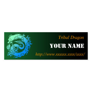 Tribal dragon business card
