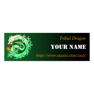 Tribal dragon business card templates