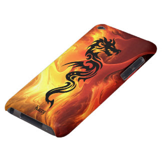 Tribal Dragon in Flames Barely There iPod Covers