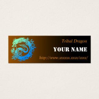 Tribal dragon mini business card