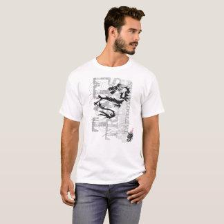 Tribal dragon - white t-shirt
