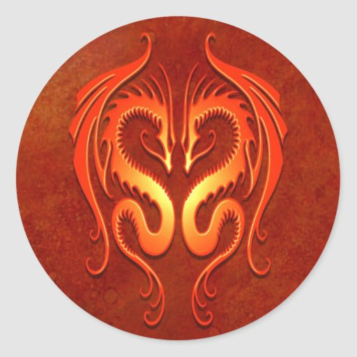 Tribal Dragons, red Stickers