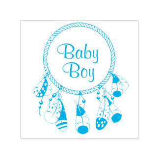 Tribal Dreamcatcher Boho Baby Boy Self-inking Stamp