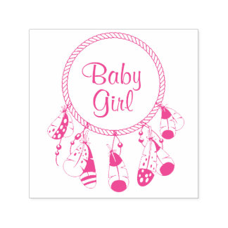 Tribal Dreamcatcher Boho Baby Girl Self-inking Stamp