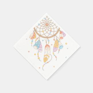 Tribal Dreamcatcher Boho Baby Paper Napkin