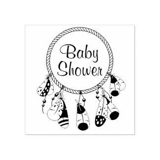 Tribal Dreamcatcher Boho Baby Shower Rubber Stamp