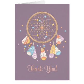 Tribal Dreamcatcher Boho Baby Shower Thank You Card