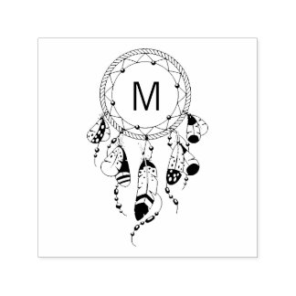 Tribal Dreamcatcher Monogram Self-inking Stamp