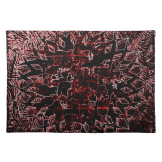 Tribal Effect Red Placemat