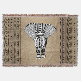 Tribal Elephant Ethnic Pattern