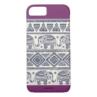 Tribal elephants phone case