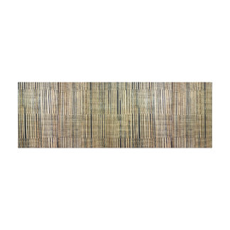 Tribal. Ethnic. Natural Weave Texture. Canvas Print