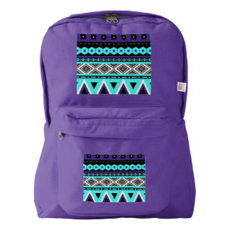 Tribal fabric pattern America Apparel backpack