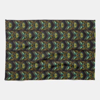 TRIBAL FACE KITCHEN TOWEL AT PRINT