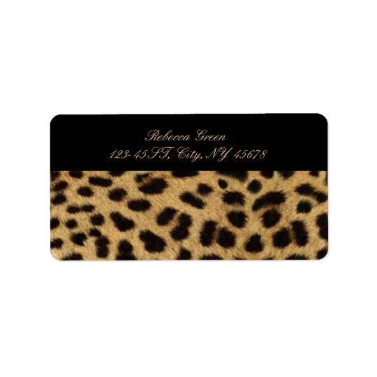 tribal fashionista safari animal leopard print address label
