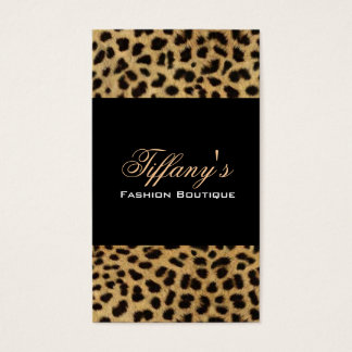 tribal fashionista safari animal leopard print business card