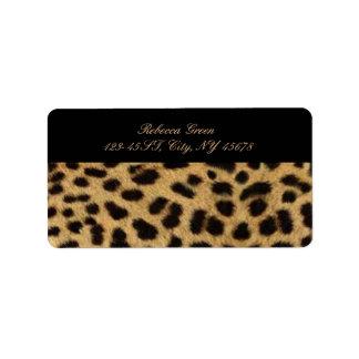 tribal fashionista safari animal leopard print label