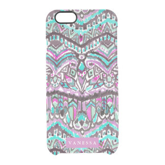 Tribal Feather Boho Watercolor CUSTOMIZABLE Clear iPhone 6/6S Case
