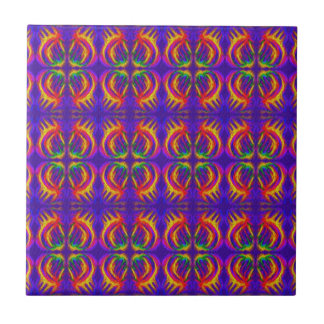 Tribal Fiery Small Square Tile