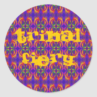 Tribal Fiery Round Sticker