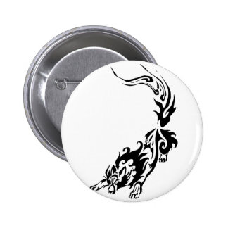 Tribal Fiery Wolf Pouncing png Button