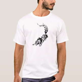 Tribal Fiery Wolf Pouncing.png T-Shirt