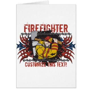 Tribal Firefighter Card