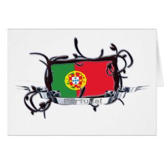 Tribal Flag Portugal Card