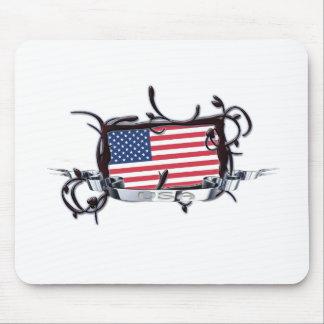 Tribal Flag USA Mousepad