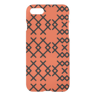 Tribal Flame Orange Nomad Geometric Shapes iPhone 8/7 Case