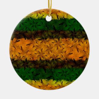 Tribal Floral Pattern Ceramic Ornament