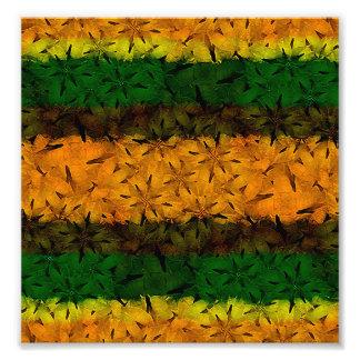 Tribal Floral Pattern Photo Art