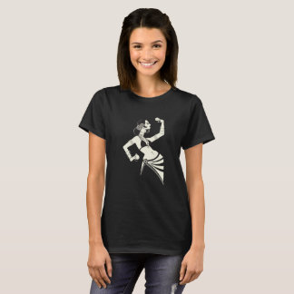 tribal fusion belly dancer with cymbals T-Shirt